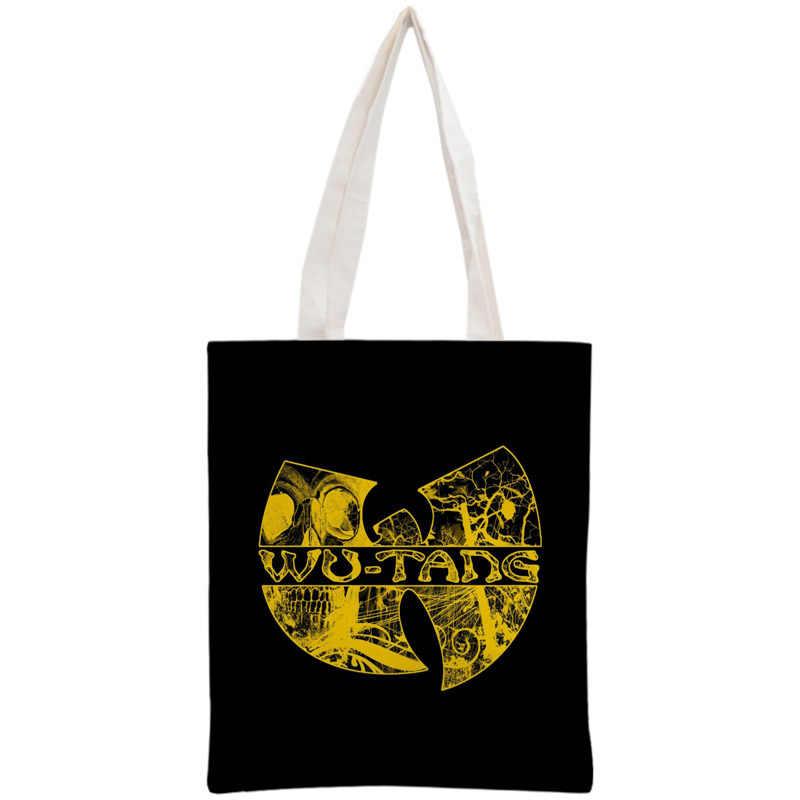 カスタム呉唐トートバッグ再利用可能なハンドバッグショルダーポーチ折りたたみコットンキャンバスショッピングバッグカスタマイズ画像