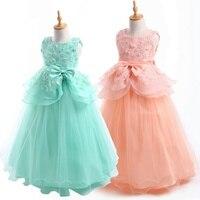 2 14 Year Kids Girls Wedding Flower Girl Dress Elegant Princess Party Pageant Formal Dress Sleeveless