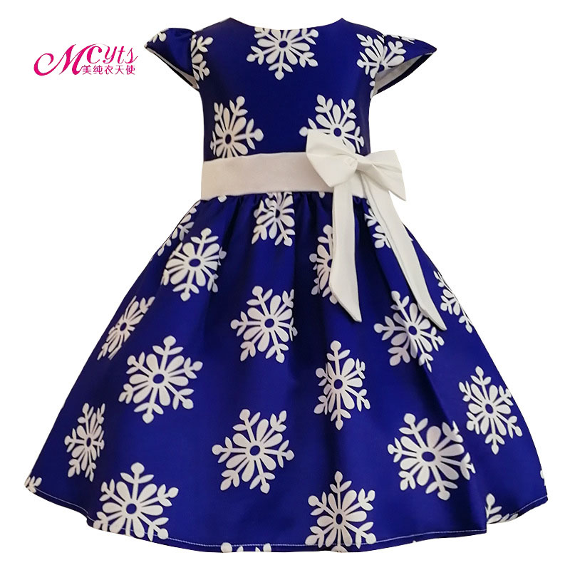 Flower Girl Dresses Princess Costume Kids Clothes Printing Party Dress Children 2018 Summer Prom Dresses 4 6 8 10 12 14 Years 2017 new summer girl beading dress sequin flower ruched kids party dresses weddings princess girl evening prom girl clothes