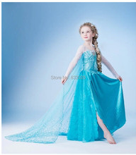 Free shipping New Style Girls  Dress Elsa Anna beautiful Fashion princess for Childrens dress