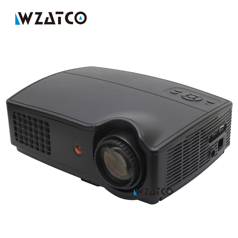 Android WIFI Portable LED HD Projector 4500lumens Support Full HD 1080p Video 3D LED Home HDMI Projectors lcd Beamer Proyector