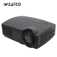 CT328 4500 lúmenes proyector Portátil LED HD 1280*800 Soporte Full HD 1080 p de Vídeo 3D LED Proyectores Caseros lcd Beamer proyector VGA