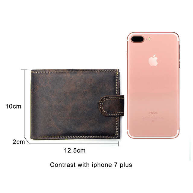 Luxury Designer Mens Wallet Leather PU Bifold Short Wallets Men Hasp Vintage Male Purse Coin Pouch Multi-functional Cards Wallet 5