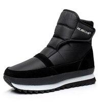 Plus Size 45 Winter Men Boots 2017 New Design Waterproof Plush Men Ankle Boots Non Slip