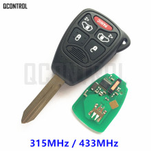 QCONTROL Vehicle Auto Remote Key for JEEP Commander Patriot Liberty Compass Grand Cherokee Wrangler 315MHz/433MHz Keyless Entry