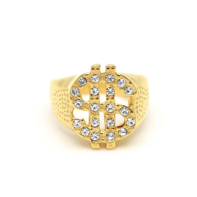 Золотой Перстень Со Знаком Доллара