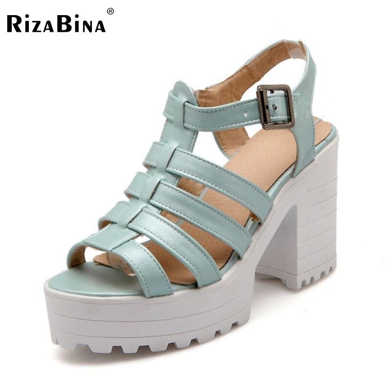 RizaBina ladies ankle strap peep open toe high heel sandals platform font b women b font