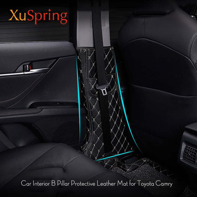 Car Styling B Pillar Anti-kick Protective Mat Pad Cushion Case Stickers For Toyota Camry Daihatsu Altis 2017 2018 2019 XV70Car Styling B Pillar Anti-kick Protective Mat Pad Cushion Case Stickers For Toyota Camry Daihatsu Altis 2017 2018 2019 XV70