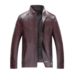 100 genuine leather jacket men red soft sheepskin jacket fashion genunie leather jacket coat men.jpg 250x250