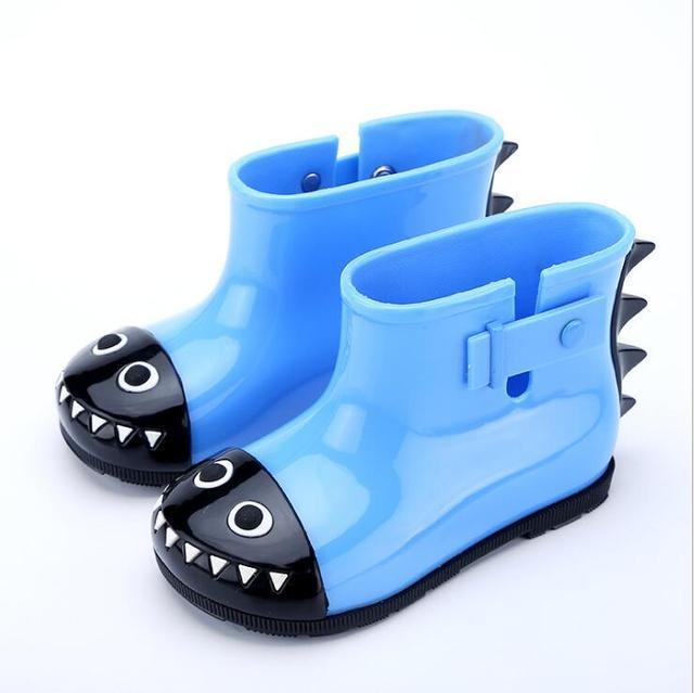 YENI Stil Su Geçirmez Çocuk yağmur çizmeleri Katı Şeker Renk Kauçuk Erkek Kız yağmur çizmeleri çocuk yağmur ayakkabıları damla gemi