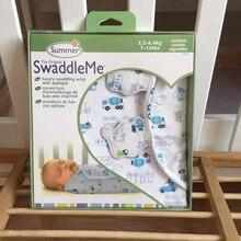 Летний супермягкий костюм SwaddleMe для новорожденных, хлопок, для детей 0-3 месяцев, спальный мешок, размер 50X73X39 см