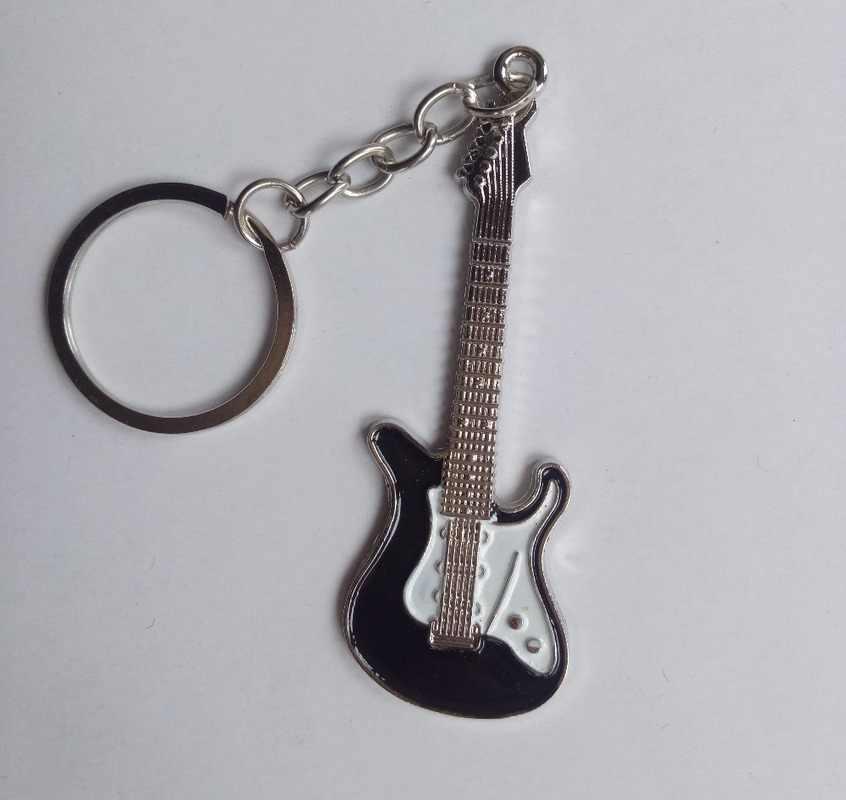 2019 Рождественский подарок для влюбленных на день рождения модная Гитара брелок для ключей Автомобильный ключ брелок для ключей Музыкальные инструменты кулон ювелирный брелок
