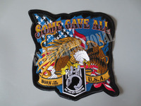 10 inch eagle với the stars and stripes Bản Vá Thêu cho Jacket trở lại vest Xe Máy Biker 24 cm * 25.5 cm