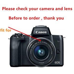 Image 2 - 49mm filtre UV EW 53 pare soleil pour Canon EOS M5 M6 M10 M50 M100 M200 avec EF M 15 45mm f/3.5 6.3 est objectif STM