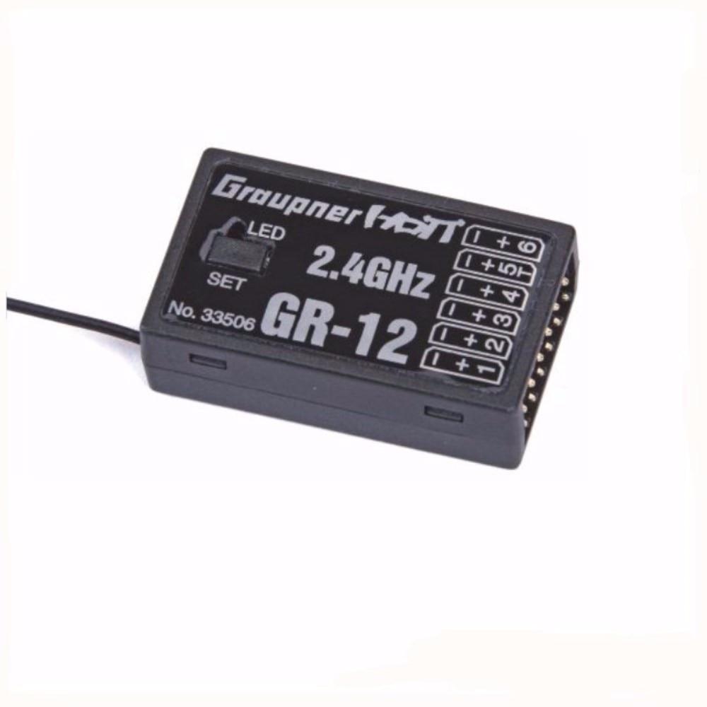 Graupner HoTT GR-12 2.4GHz 6-Channel Receiver for RC Transmitter Remote Control Parts graupner des 708 bb mg