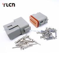 Nuevo 1 Juego de piezas de coche 12 Pin/Way enchufe conector de cable eléctrico sellado automático DT06-12S impermeable al por mayor