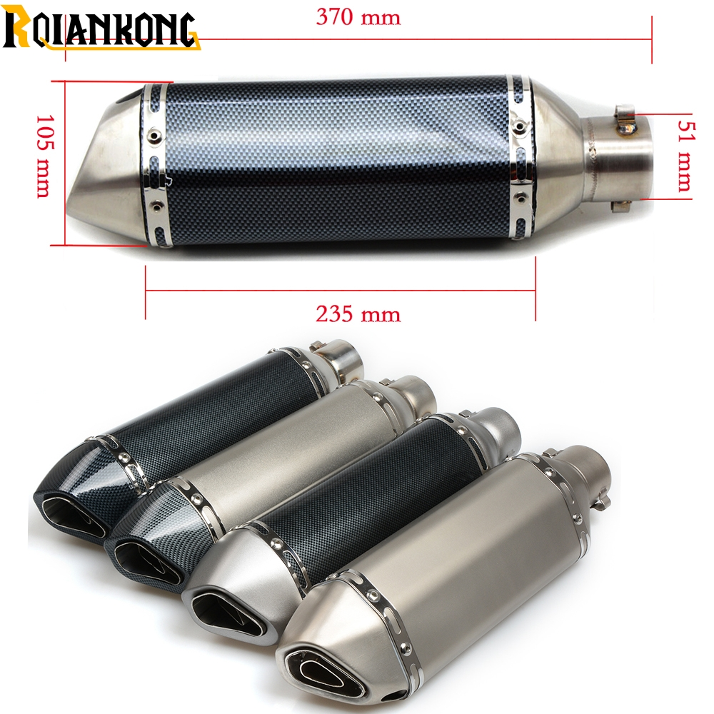 Motorcycle 51/36mm AK exhaust muffler pipe db killer For TRIUMPH TIGER 800 1050 1200 Sport Explorer XC XCX XR XRX for triumph tiger 800 xc xrx tiger 1050 1200 new motorcycle adjustable handlebar riser bar clamp extend adapter