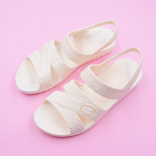 Summer mother shoes, plastic sandals, women, middle and old people, flat with so