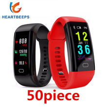 50piece F07 Waterproof Smart Bracelet Heart Rate Monitor Blood Pressure Fitness Tracker Smartband Sport Watch for ios android