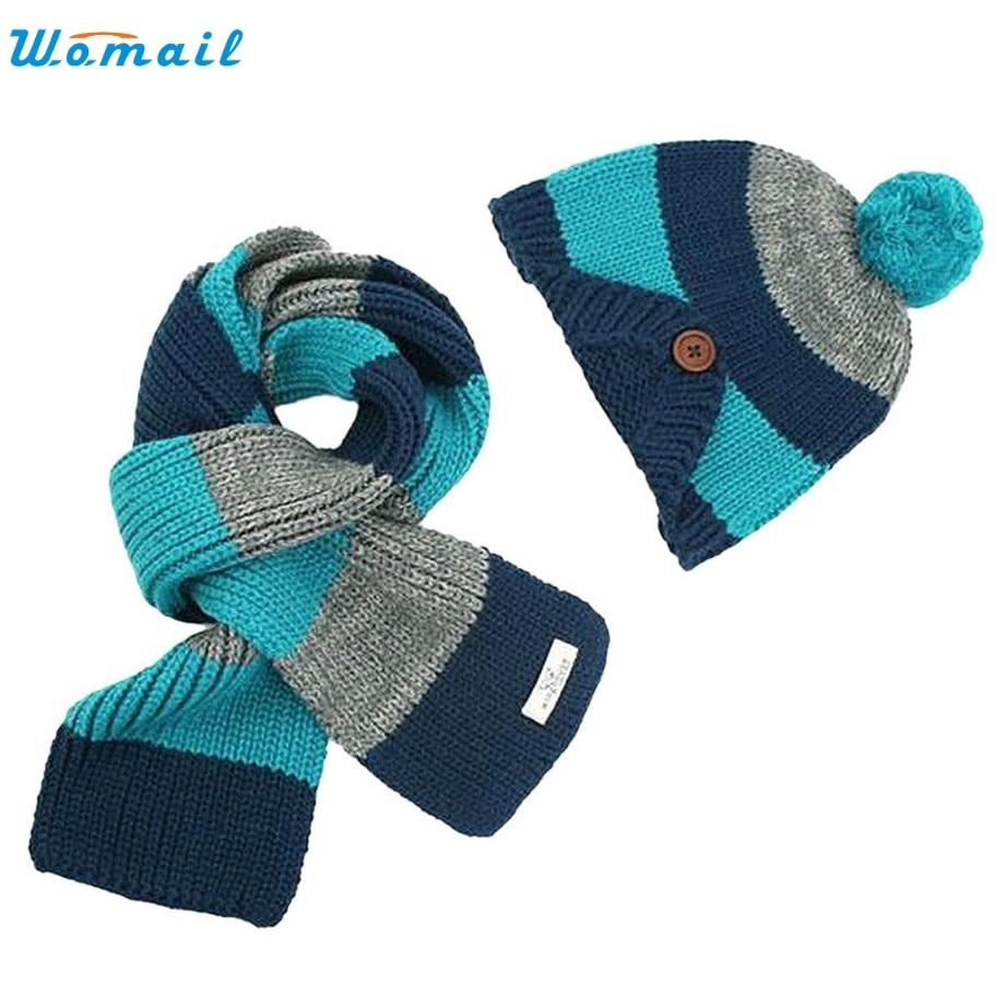 Hot Selling! Wonderful Boys Warm Woolen Coif Hood Scarf Caps Hats Blue Dec 23 coif in фен evax1r 2300w