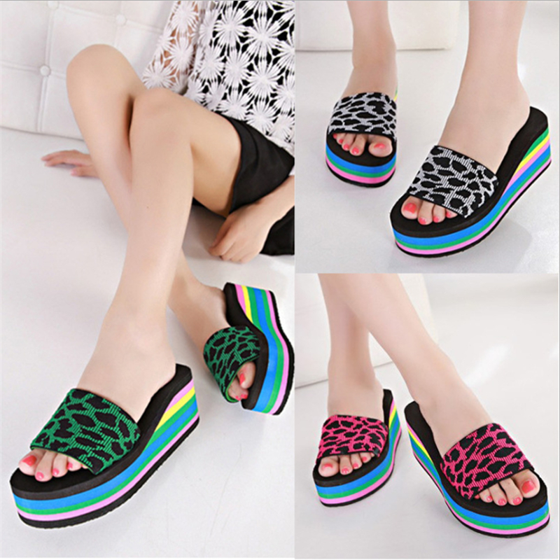 Women sandals, slippers 2016 new summer fashion  color muffin sandals, home shoes, wedge heel sandals sandals
