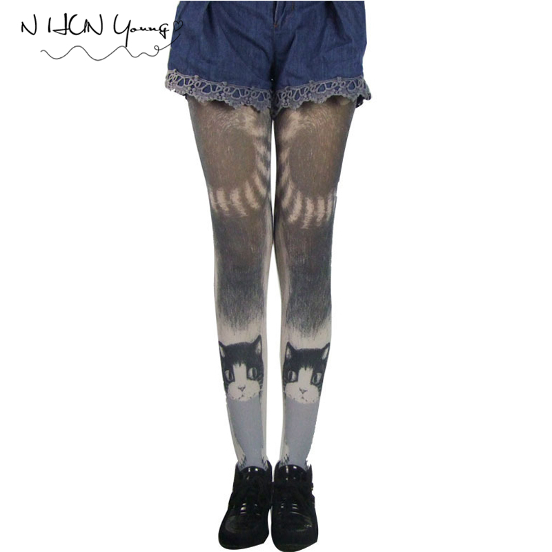 Sexy Women Tights Harajuku Tattoo Pantyhose In a grid Stockings Halloween Hosiery Lolita Fancy Medias Party For WomenSW072