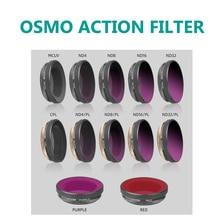 OSMO Hành Động CPL MCUV ND4/8/16/32/ND PL Bộ Lọc Bộ Lọc Ống Kính cho Cho DJI Osmo hành động Gimbal Camera Phụ Kiện