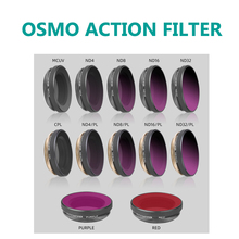 Osmo conjunto de filtros de ação cpl mcuv, kit de filtros de lente nd4/8/16/32 ND PL para dji osmo action gimbal acessórios para câmera,