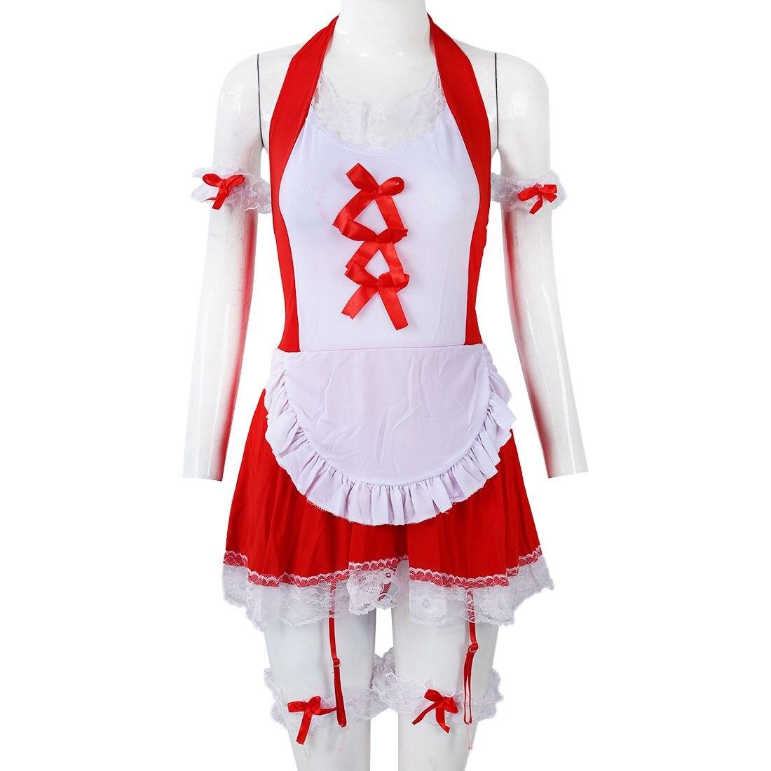Nouvelle lingerie Sexy chaude érotique lingerie sexy Vilain sexy Maid Costumes robe sexy sous-vêtements jeu de rôle kimono pour les femmes rouge