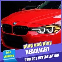 2PCS Car Style LED headlights for BMW F30 2012 2016 for F30 head lamp LED DRL Lens Double Beam H7 HID Xenon bi xenon lens