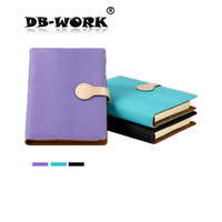 2015 New A5 Imported Leather Loose Notebook Notepad Fine Magnetic Button Can Be Customized 6 Hole