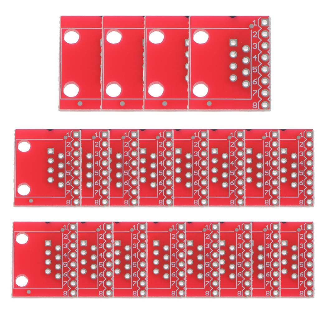 NEW Hot 20x Modular Connectors / Ethernet Connectors RJ45 Breakout Board Adapter Connector Module Board Portable