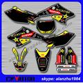 FREE SHIPPING RMZ250 04 05 06 ROCKSTAR 3M TEAM GRAPHICS BACKGROUND DECALS STICKERS KITS MOTOCROSS ENDURO SUPERMOTARD