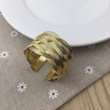 10PCS wire circle golden napkin buckle ring hotel model room mouth cloth towel wedding supplies