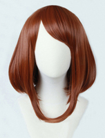 Free Shipping 28CM Short Straight Brown Bungo Stray Dogs Cosplay Hair Dazai Osamu Wig Synthetic Anime