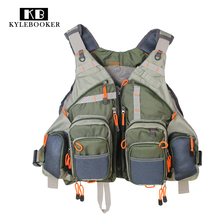 Top Qulity Mesh Fly Fishing hunting Vest Back Multifunction Pockets Backpack outdoor bag