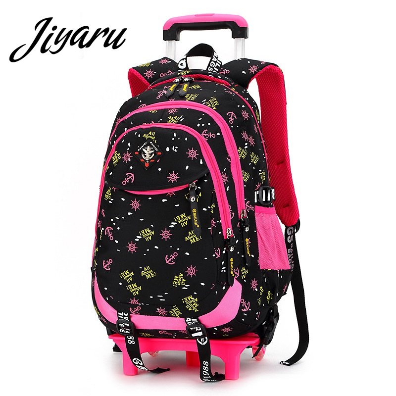 Children Wheeled School Bags Kids Books Backpacks Children School Bags for Teenagers Boys Girls Big Capacity School Backpacks pink school bags hot girl s princess backpacks for teenagers children kids nylon 3d student backpacks 33 28 10 cm aw84
