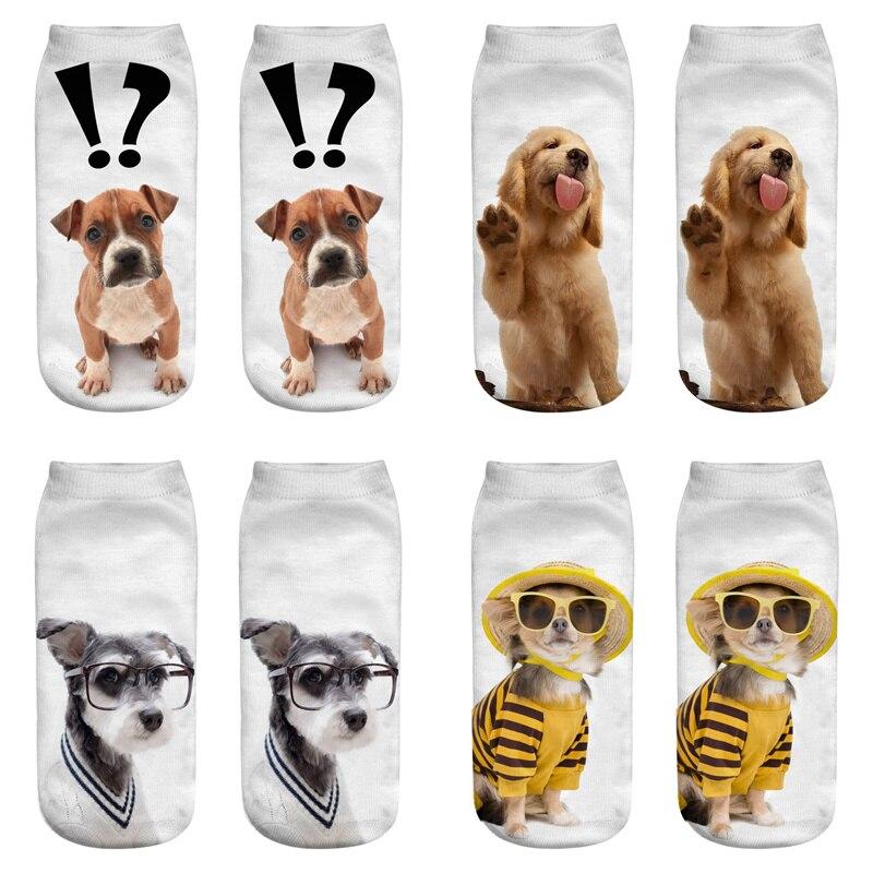 Dreamlikelin Kawaii Dog 3D Print Woman Socks 27 Styles Golden Retriever Schnauzer Cute Ankle Socks For Women Children