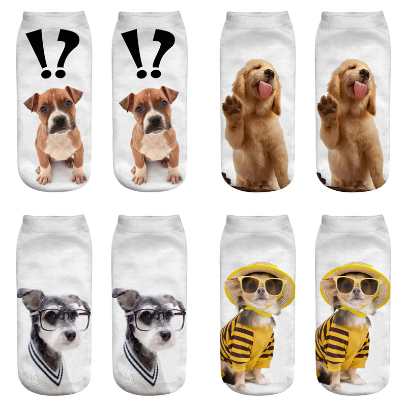 Dreamlikelin Kawaii Dog 3D Print Woman   Socks   27 Styles Golden Retriever Schnauzer Cute Ankle   Socks   For Women Children