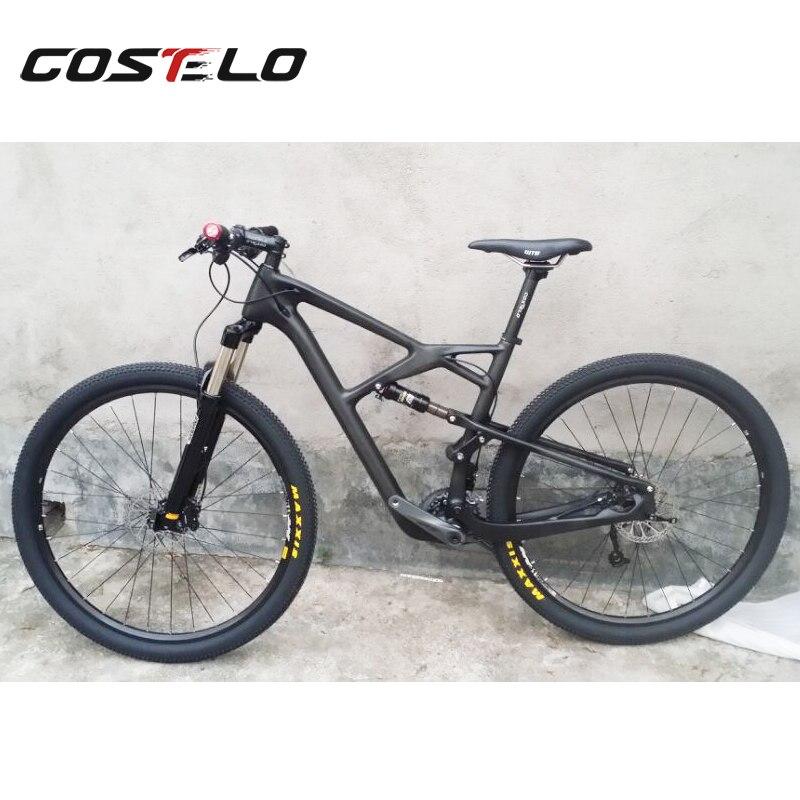COS098 популярным поставщиком дешевый Китай углеродного волокна Подвеска MTB горный велосипед велосипеды аксессуар части кадра 29er Бесплатная