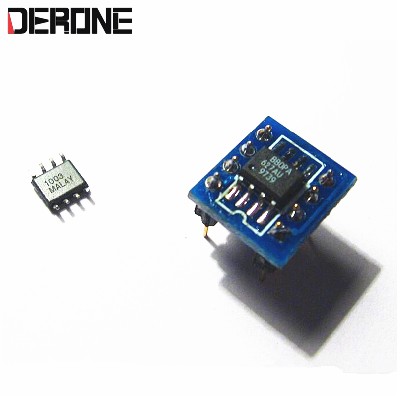 1piece OPA627 *2  turn to dual op amp  SMD to DIP