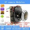 IP Модуль Камеры 2.0MP 1080 P IMX322 360 Градусов Широкий Угол Рыбий Глаз Панорамный Камера Инфракрасная Камера Видеонаблюдения 1.7 мм HD объектив