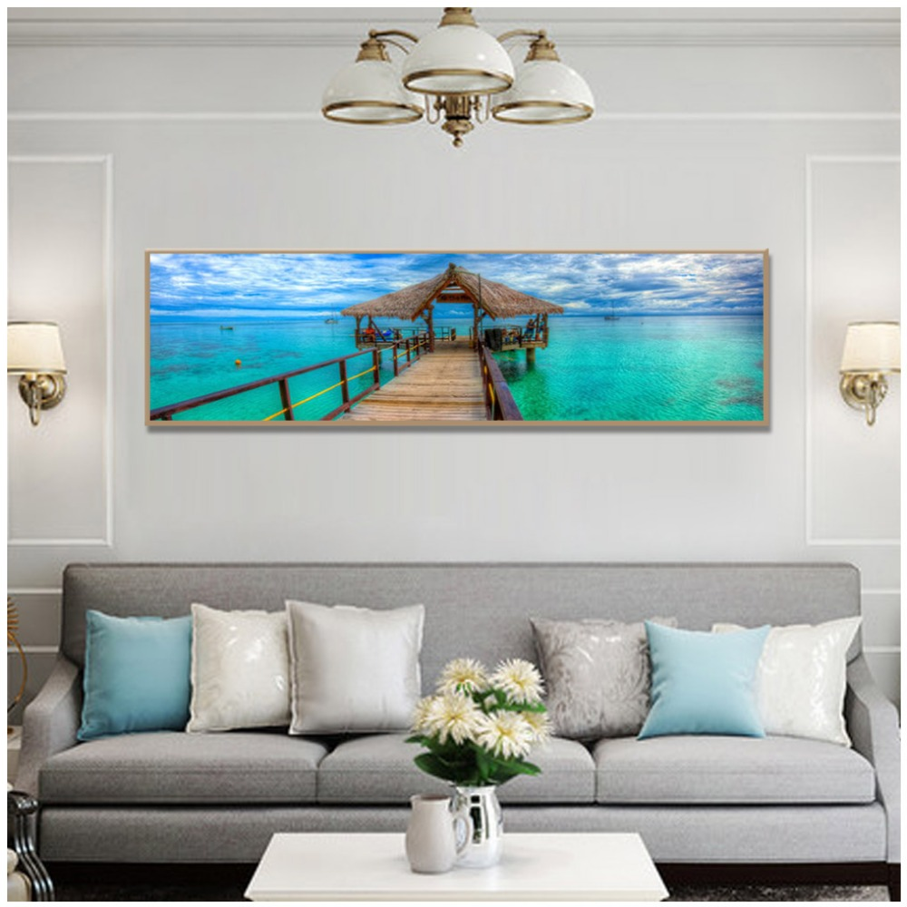 Poster And Print Modern Blue Seascape Canvas Pictures Wall