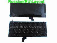 New RU Russian Keyboard For APPLE Macbook Pro A1502 BLACK With Backlit Board RU Laptop Keyboards