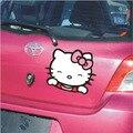 4 unids/lote Feliz Hello kitty puerta Del Coche cuerpo Pegatina arañazos cubierta Etiqueta decoración del coche accesorios styling Envío Gratis