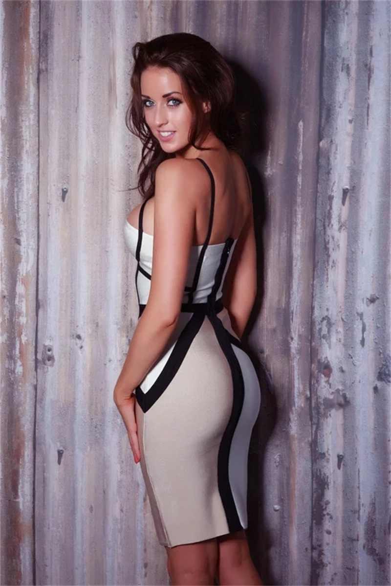 Низкая цена, высокое качество Для женщин Бандажное платье сексуальными тоненькими лямками, Разделение В лоскутном стиле Vestidos 2018 летнее платье для ночного клуба, одежда для вечеринок