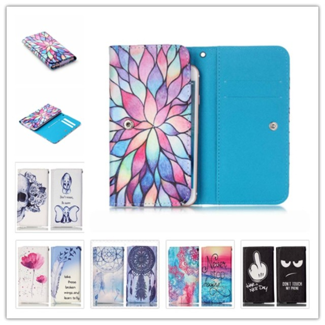 2016 Beautiful Painting Leather Protect Phone Cases For Ergo F500 Force With Card Wallet And Slot Back Cover Case