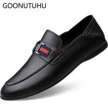 2019 new fashion men's shoes casual genuine leather cow loafers male black red white slip on shoe man flat driving shoes for men все цены