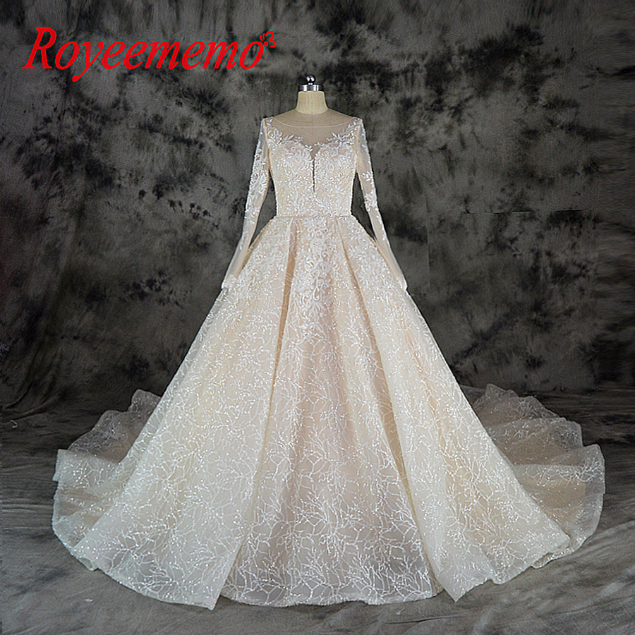 Glitter Wedding Gowns: Aliexpress.com : Buy 2019 Shining Lace Wedding Dress