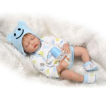 Real Lifelike Reborn Girl Doll Soft Vinyl Sleeping Baby Alive, 22-Inch Kids Toy